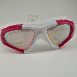 New swimming goggles pink and white